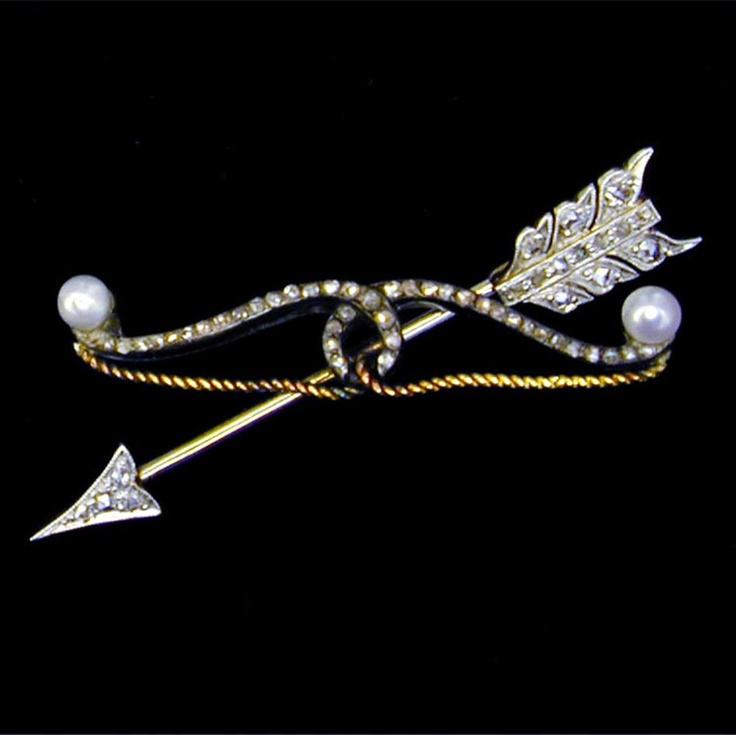 Antique diamond set arrow and bow brooch bentley for Bentley and skinner jewelry