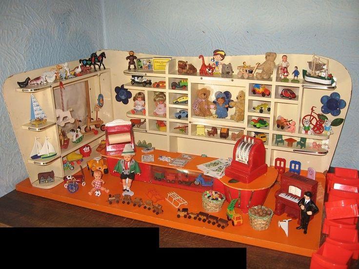 Spielzeugladen-Kaufladen 50er J reich bestückt Puppenhaus-Puppenstube-Puppen | eBay