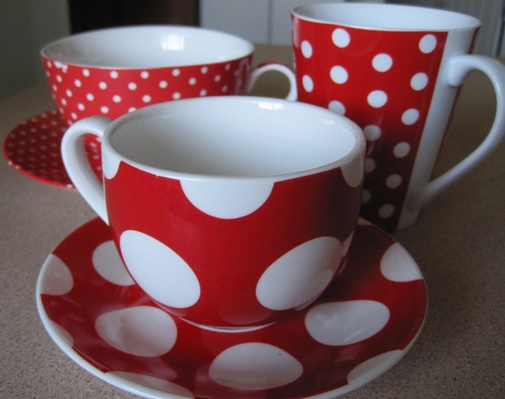 Red dishes!!!