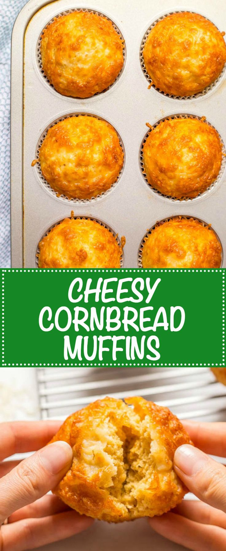 Easy cheesy cornbread muffins are whole wheat, naturally sweetened and made in just one bowl! AD They go great with soups and chili for a yummy dinner and can also be packed in a school lunch box! | www.familyfoodonthetable.com