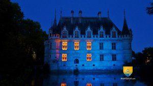 Chateau d'Azay-le-Rideau, nighttime