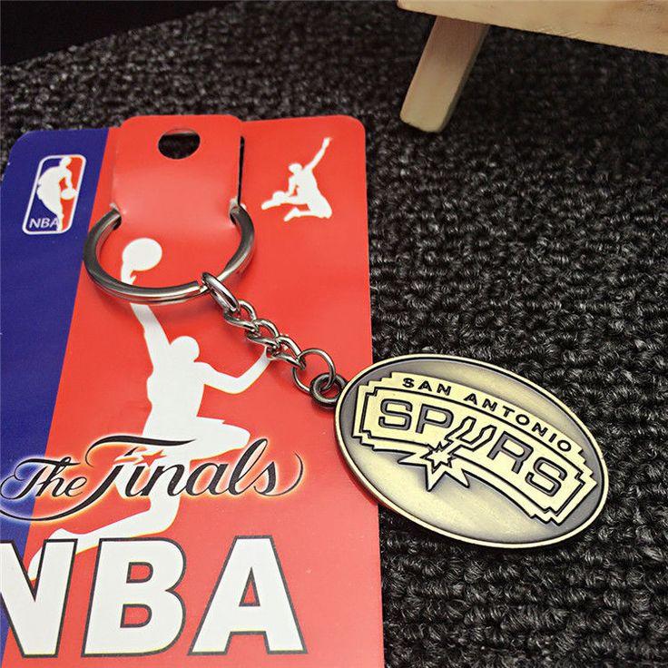 BASKETBALL NBA San Antonio Spurs Logo Souvenir Copper steel Keychain KeyRing