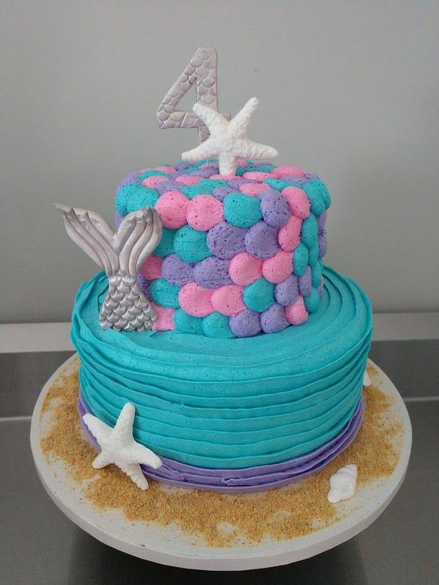 Amazing Buttercream Mermaid And Starfish Cake 803 386 8806 Info Personalised Birthday Cards Akebfashionlily Jamesorg