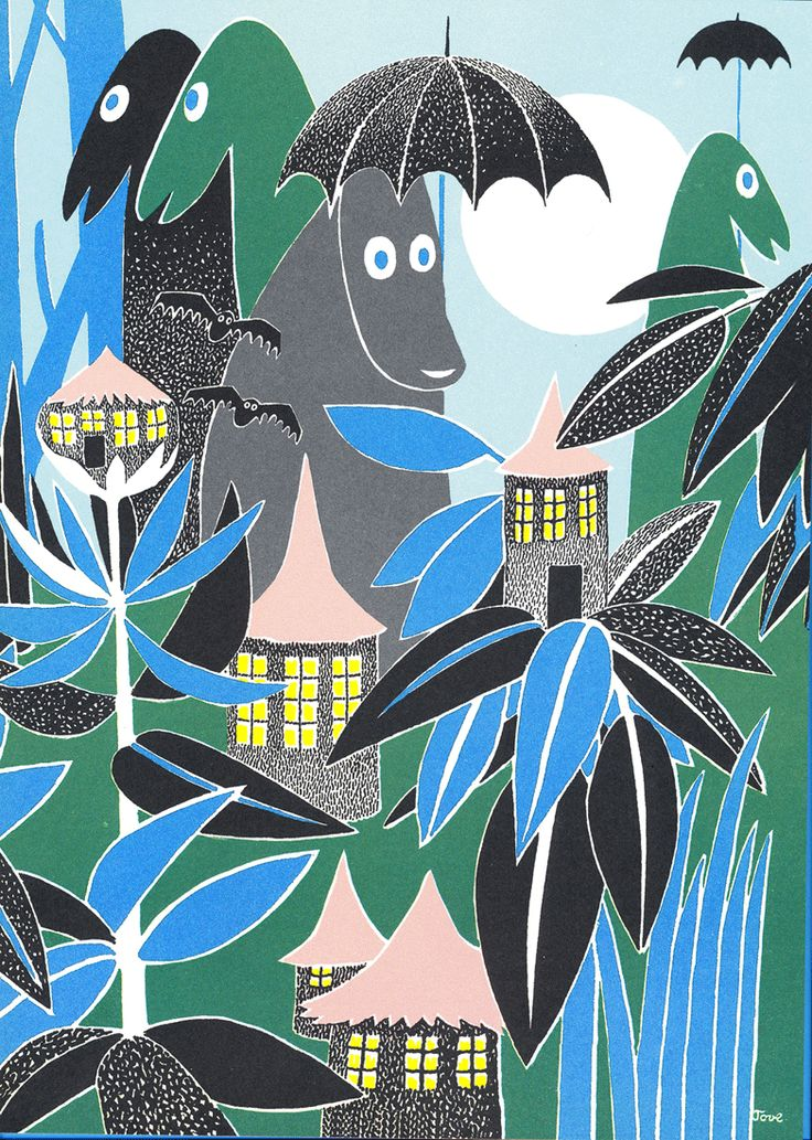 """Tove Jansson -""""Illustration from the book """"Who Will Comfort Toffle""""."""