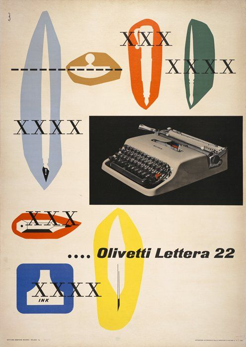 """PG126 """"Olivetti"""" poster by Giovanni Pintori (1952)"""