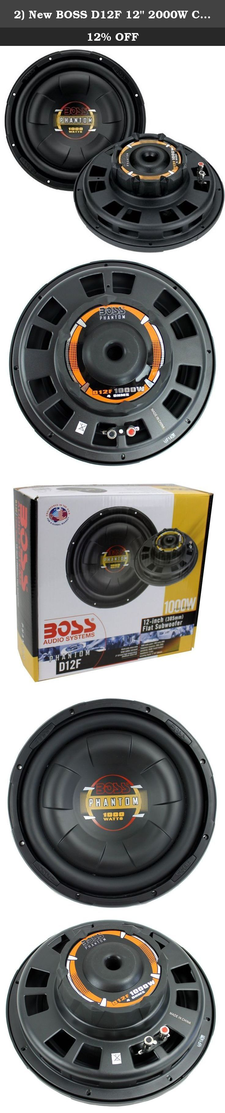 2 new boss d12f 12 2000w car audio shallow mount subwoofers power subs woofers