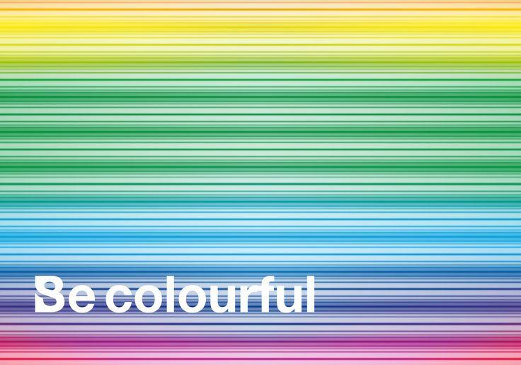 Be colourful! graphic design by Studio Buschi