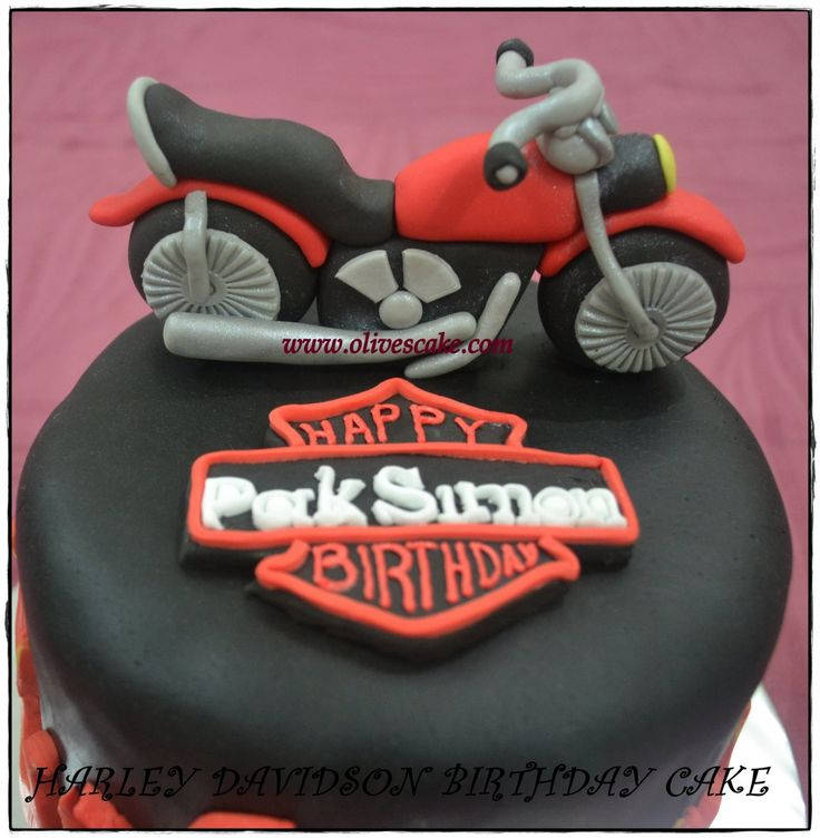 14 best harley davidson cakes images on Pinterest Harley davidson