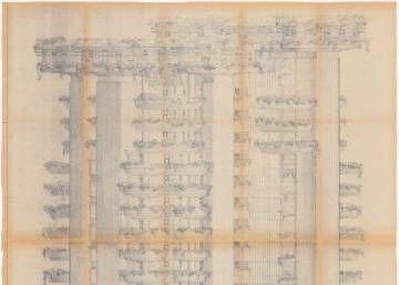 El COAM desnuda la obra de los mejores arquitectos modernos La muestra El proyecto visado recoge documentos originales de las grandes obras de la arquitectura madrileña