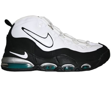 :Nike Air Max Tempo Mens Basketball Shoes White/White-Black-Mystic Teal