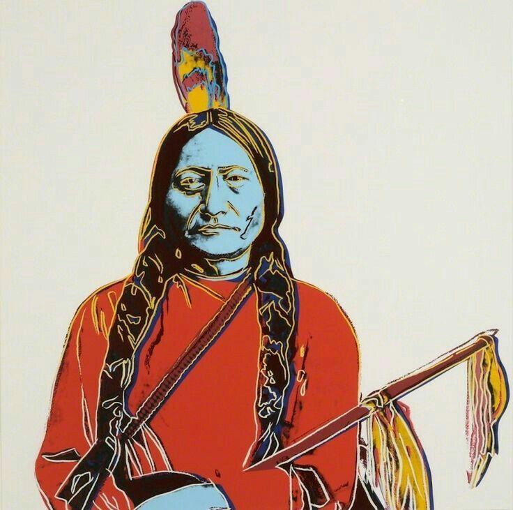 Andy Warhol ( Artist ), Sitting Bull , 1986