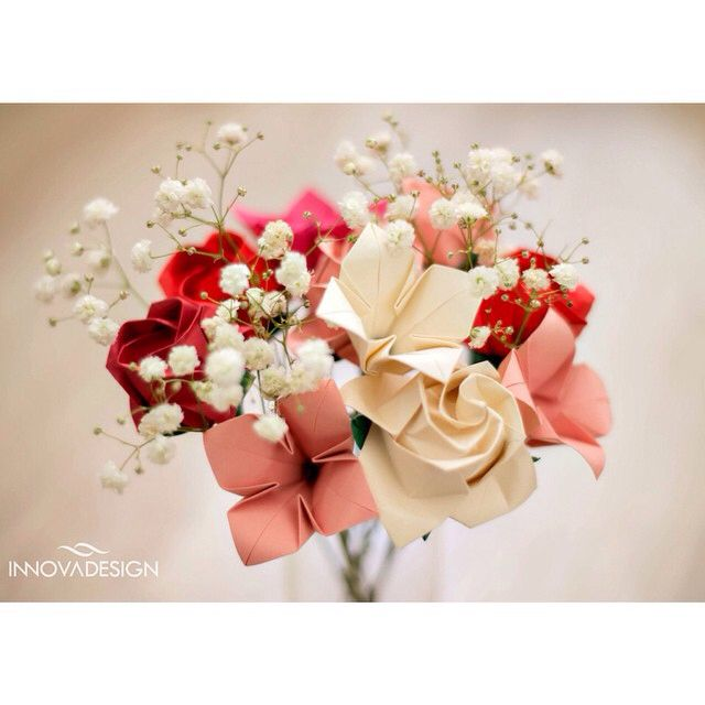 Bouquet de Origami. Paper Bouquet.  Informações: contato.innovadesign@gmail.com www.innovadesign.com.br