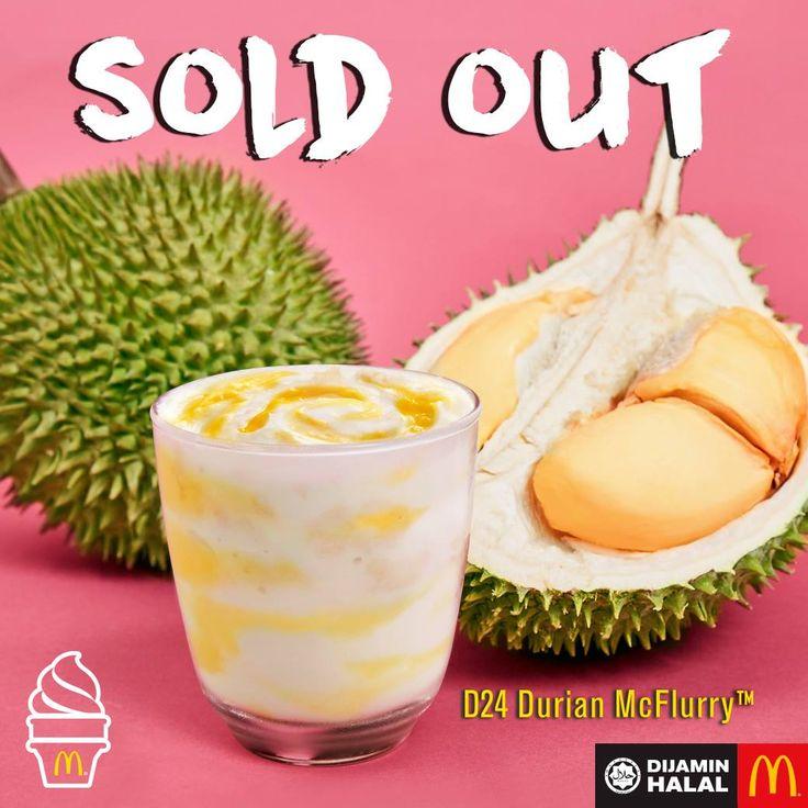 Tiada Lagi McFlurry Durian Jumpa Lagi Tahun Depan   SETELAH seminggu dikeluarkan kini aiskrim McFlurry yang digilai ramai sudah ditamatkan menunya. Mungkin ada yang sedih sebab masih belum berkesempatan merasai aiskrimspecialini.      Tiada Lagi McFlurry Durian Jumpa Lagi Tahun Depan    Menerusi laman Facebooknya McDonalds telah memuatnaik satupostingyang rasa-rasanya boleh membuatkan ramai netizen kecewa dan sedih. Mana taknya baru seminggu dikeluarkan menu McFlurry Durian D24 terpaksa…
