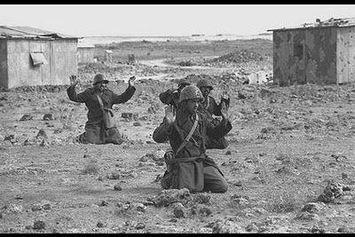 Syrian infantry surrendering.