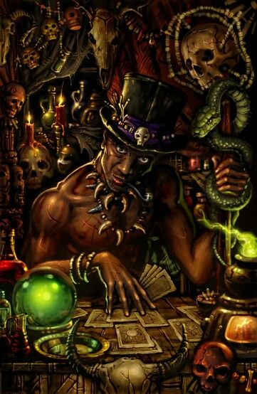 Playing cards with Papa Legba