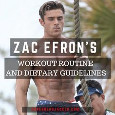 Zac Efron's Workout Routine and Diet
