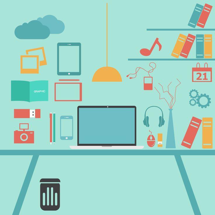 Green Office Illustration