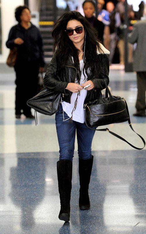 Vanessa Hudgens Arriving in Los Angeles January 13, 2011