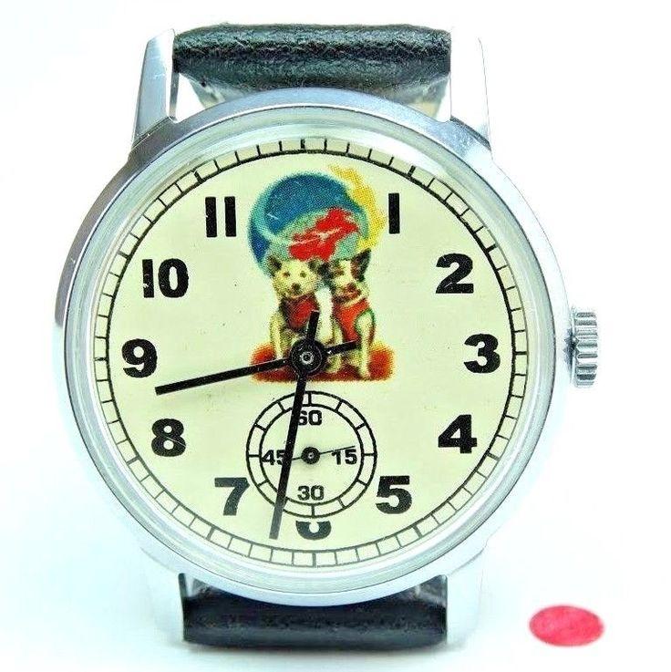 RARE Pobeda  Belka and Strelka first astronauts Wrist Watch Russian  | eBay