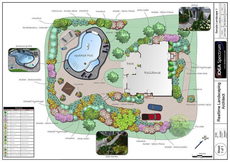 Landscape Plans | Landscape Design Software By Idea Spectrum   Realtime  Landscaping .