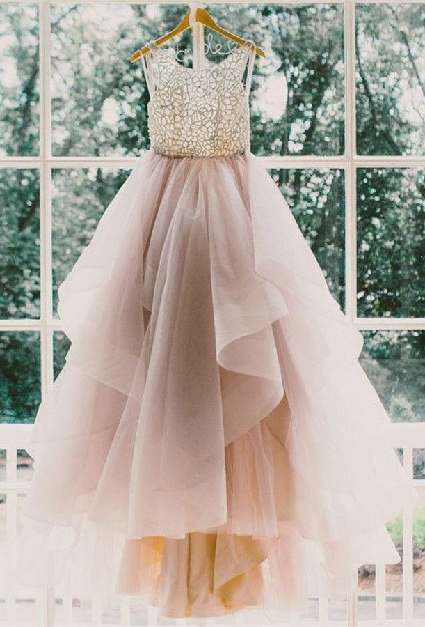 Princess Long Scoop Backless Ball Gown Prom Dresses/Wedding Dresses,Princess bridal dresses,wedding gown,Long prom dresses