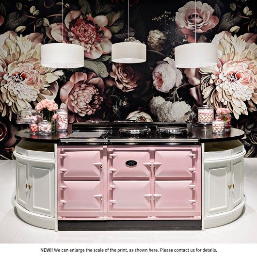 Dark Floral Ii Black Saturated Xl Wallpaper: 339 Best AGA Cookers Images On Pinterest