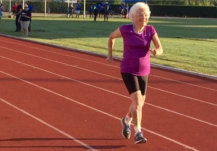 She is training for the 50- and 100-meter dash at the upcoming Senior Olympics.