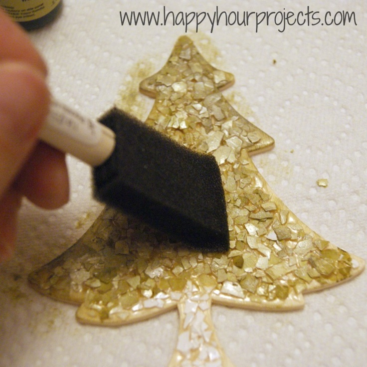 DIY Faux Mini Mosaic Tiles: Eggshell !!