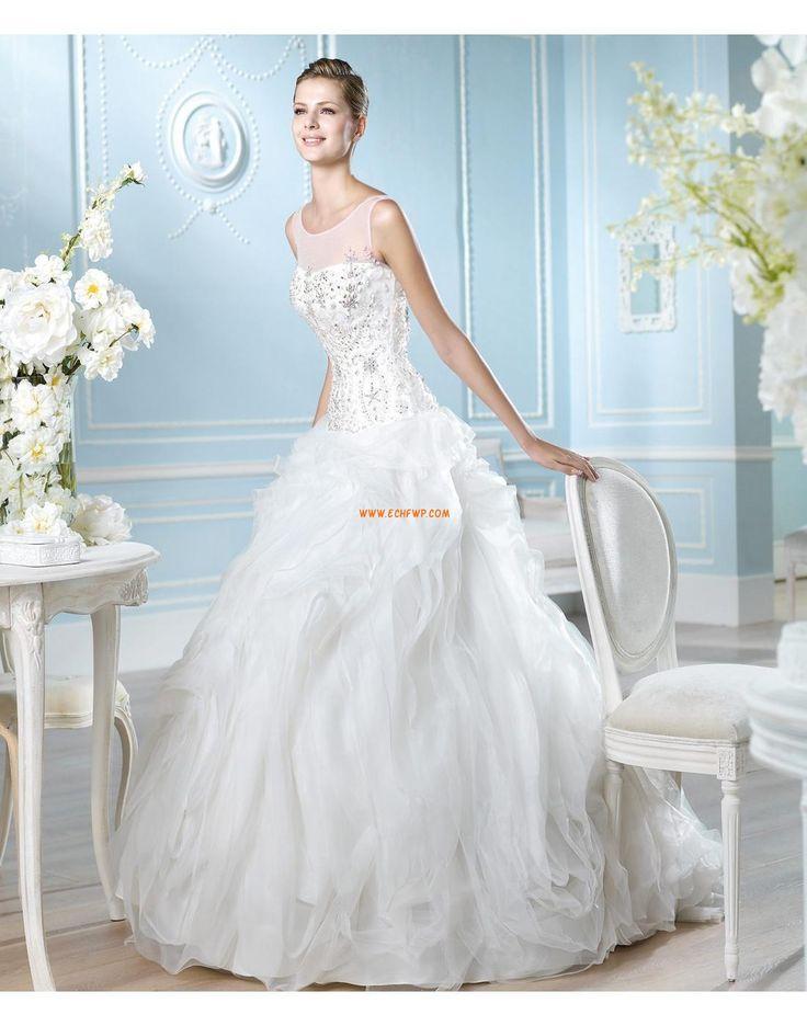 Lodičkový výstřih Elegantní & moderní Spuštený Designer Svatební šaty