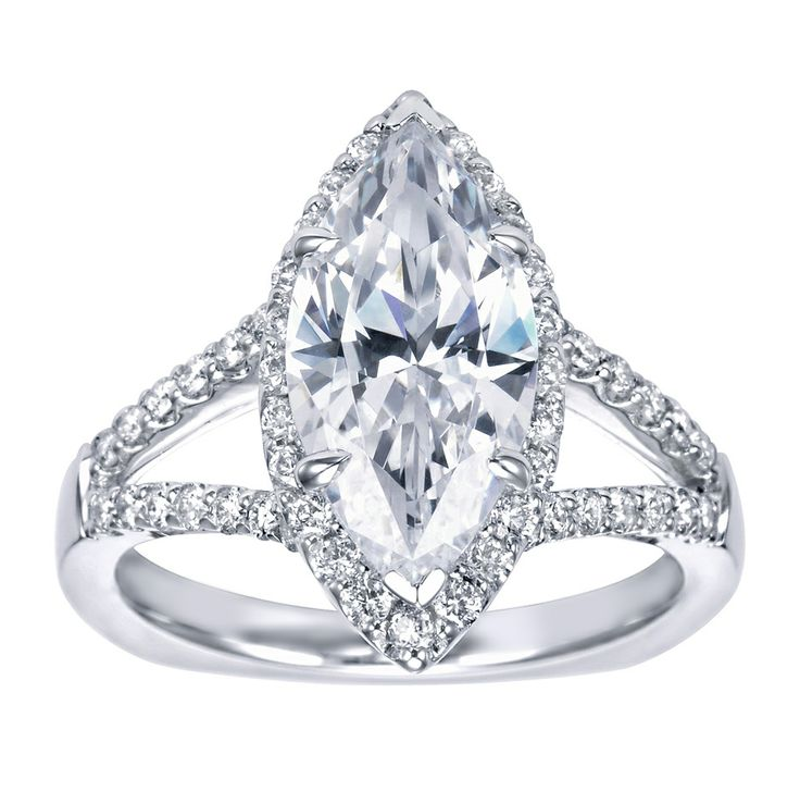 marquee shaped engagement ring halo engagement ring setting marquise cut 4 gerry the jeweler - Marquis Wedding Ring