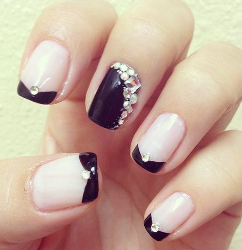 The 25 best rhinestone nail designs ideas on pinterest nails cute rhinestone nail designs prinsesfo Images