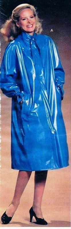 Shiny Blue pvc mackintosh