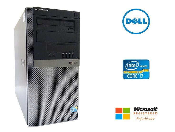 Dell OptiPlex 980 Desktop PC Quad Core i7 2.93GHz 12GB RAM 500GB HD AMD Win 10 #Dell