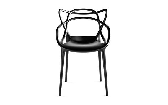 Starck Masters Chair weaves together the back silhouettes of Jacobsen's Series 7 Chair, the Eameses' Molded Plastic Chair and Saarinen's Tulip™ Armchair to create something entirely new.
