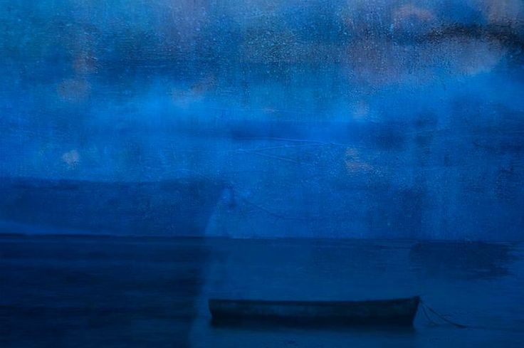 Blue Boats in Blue I by NordicArt365