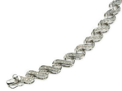 BRACCIALE ORO BIANCO e Diamanti CF00149