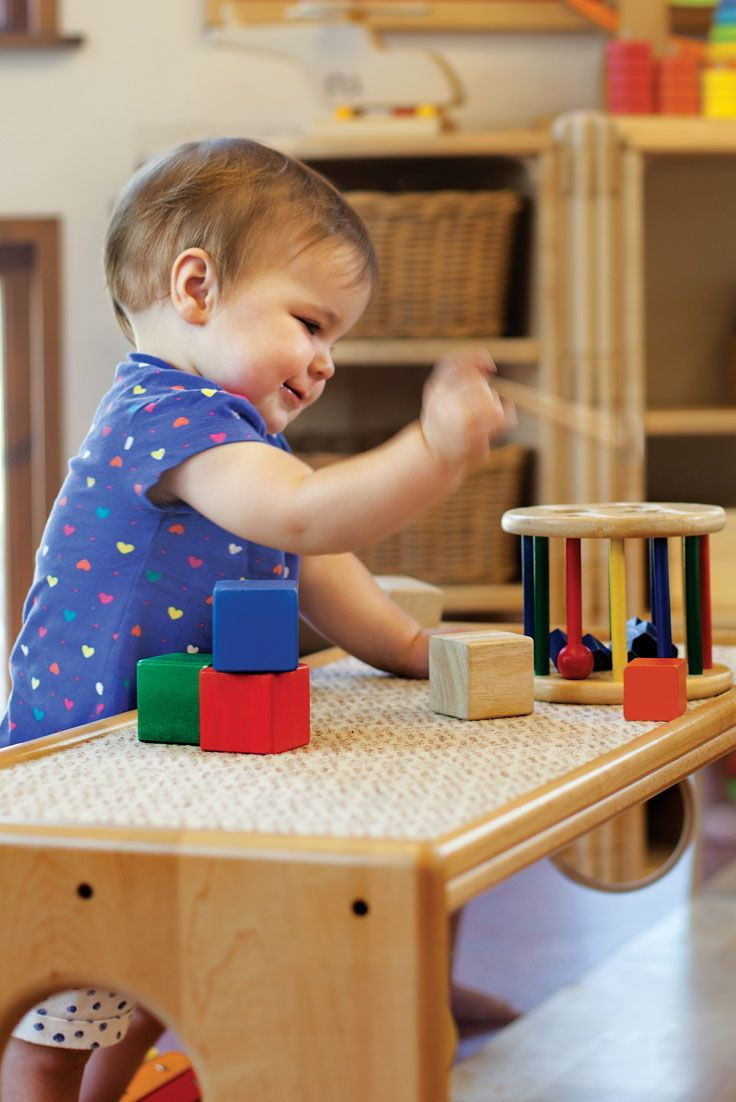 Baby room furniture should be child-sized, sturdy and pleasing to the eye.