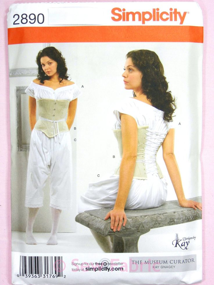 Simplicity 2890 Sewing Pattern Misses' Drawers Chemise & Corset Period Vintage