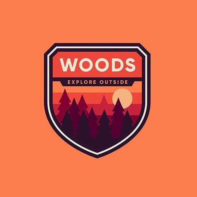 """Woods badge design made by @emberstudio  #adobe #illustrator #photoshop #branding #follow…"""