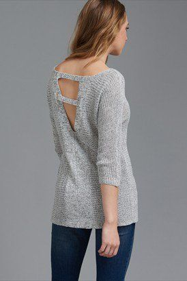Dolman Sleeve Sweater with Back Detail