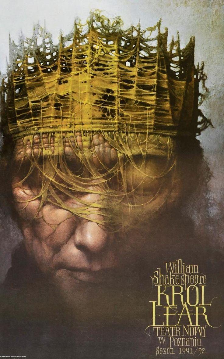 King Lear poster,Teatr Nowy w Poznaniu, Poland, 1991. d: Wieslaw Walkuski (Dydo Poster Collection)