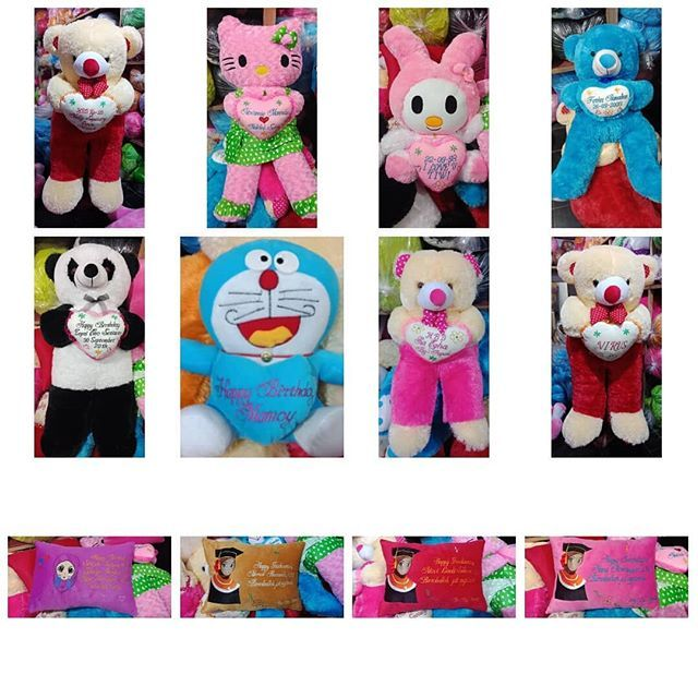 Boneka ukirnama jumbo aneka kombinasi warna tersedia aneka karakrer...  Harga Boneka Besar Lucu 9ee6b94dbb