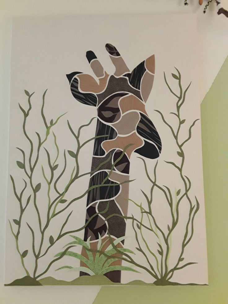 Giraffe aus Tapetenresten