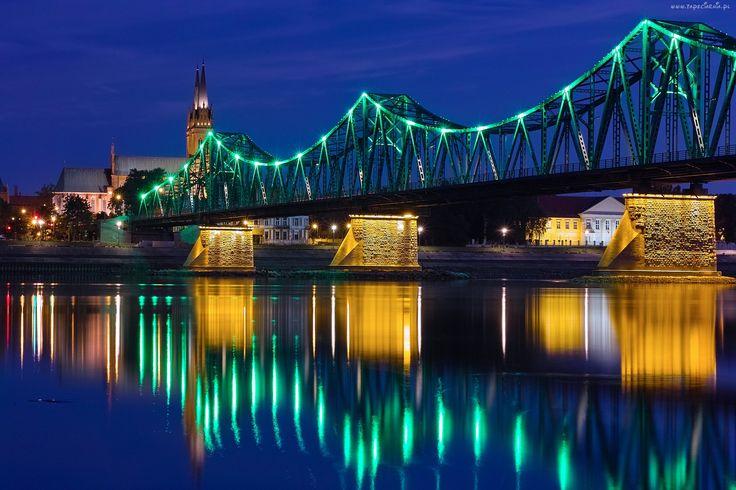 Most, Woda, Oświetlenie, Miasto