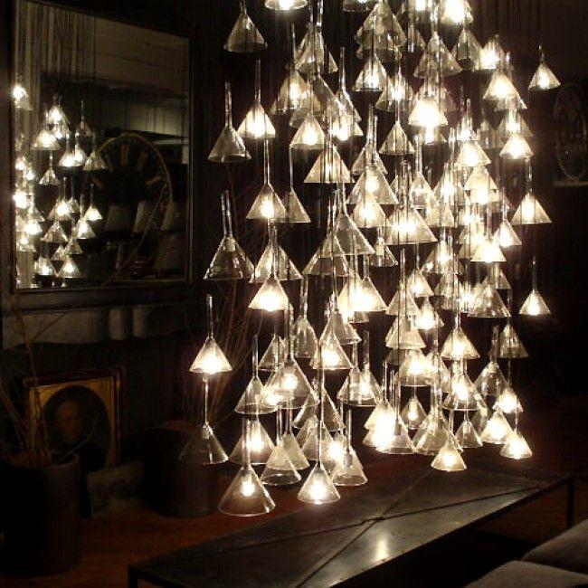 Vintage Glass Funnell Pendants At HudsonGoods.com Design