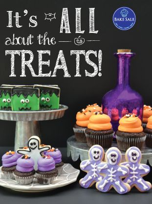 Happy Halloween Bakery Poster by Bake Sale Toronto