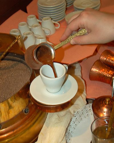 Greek coffee in Thessaloniki, Greece on a spring morning by Peace Correspondent, via Flickr    Oh, what I would do for a cup right now..