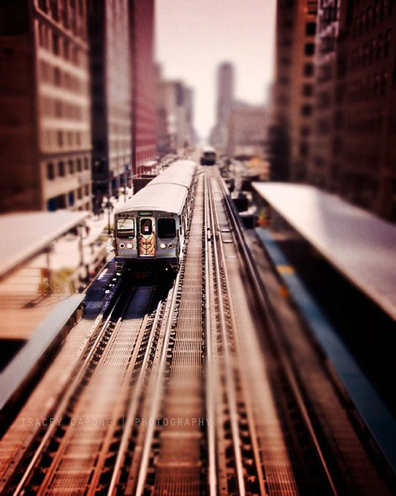 Chicago Train Print Chicago L Train Chicago Art Print