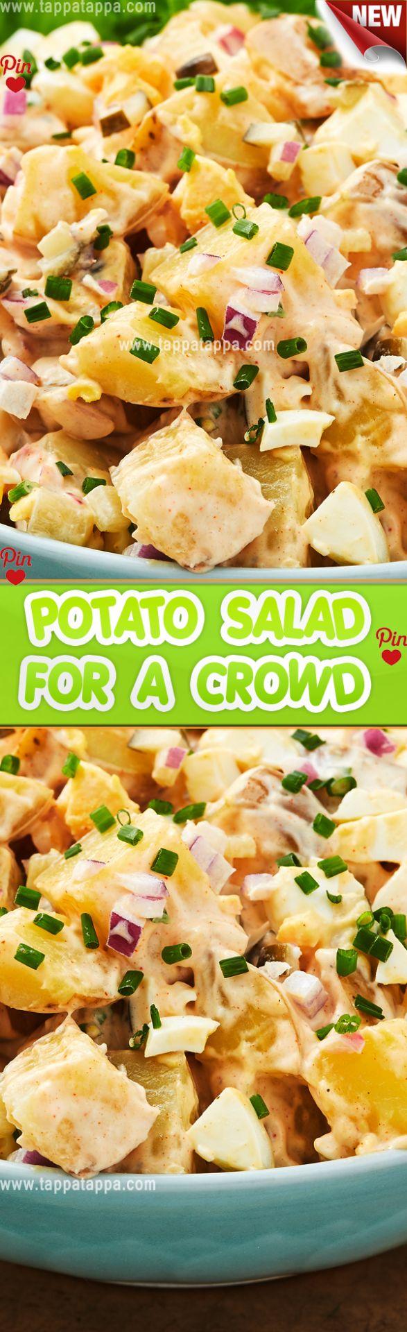 Epic Potato #Salad POTATO SALAD FOR A CROWD What I love about potato salad is th…