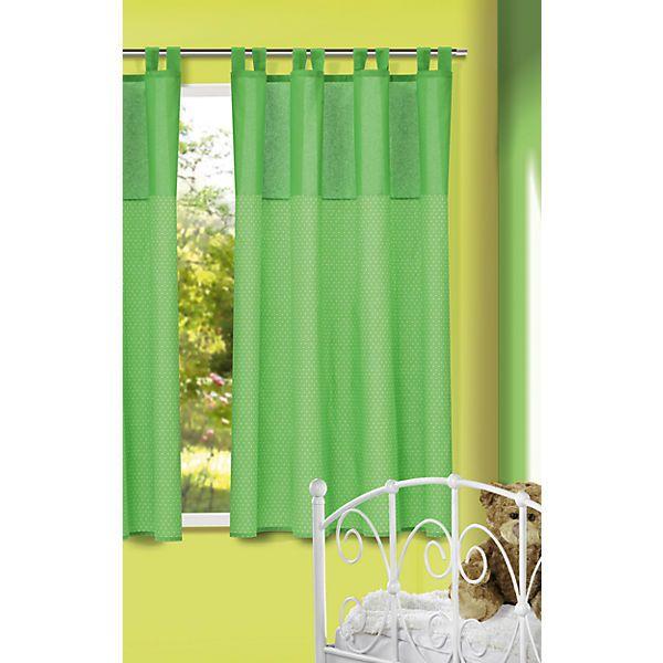 Der Vorhang in niedlichem Pünktchendesign sorgt direkt für frischen Wind im Kinderzimmer. Durch die Schlaufen ist die Aufhängung problemlos möglich.<br /> <br /> Inhalt:<br /> - 1 x Dekoschal<br /> <br /> Details:<br /> - einseitig bedruckt<br /> - Befestigung: Schlaufenschal mit Kräuselband <br /> <br /> Maße (L/B): 175 x 135 cm <br /> <br /> Material: 100 % Baumwolle<br /> <br /> Pflegehinweise: <br /> - waschbar bis 30°<br /> - nicht zu heiß bügeln<br /> - nicht für Trockner geeignet